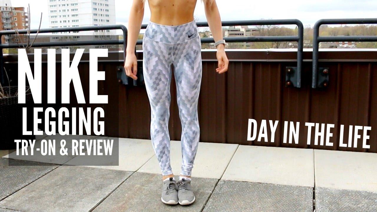 37ffd30b5ec83 Nike Leggings Try-On & Review - YouTube