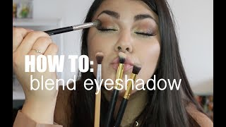 HOW TO BLEND EYESHADOW | Andreea Cristea