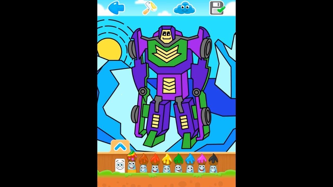Раскраски: роботы - YouTube