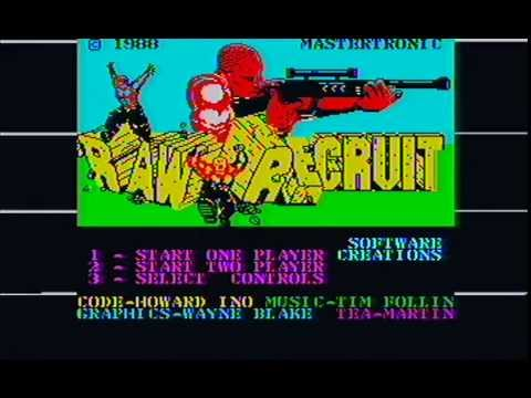 ZX Spectrum 1-bit music: Raw Recruit (Tim Follin, 1988)
