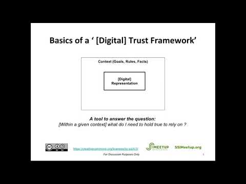 Overview of the Proposed Pan-Canadian Trust Framework for SSI with Tim Bouma
