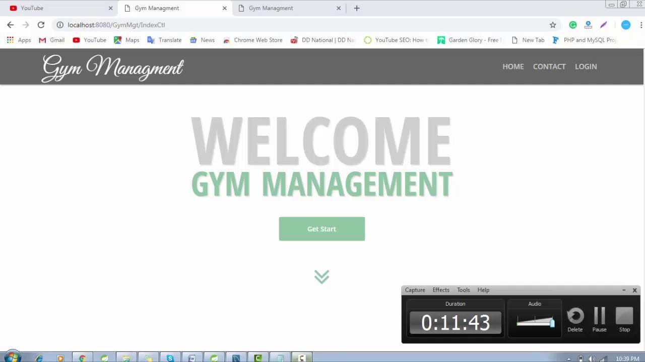 Gym Management project in java using jsp, servlet, MySQl and MVC