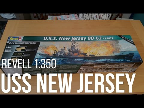 USS New Jersey BB-62 1/350 Scale Model Part 1