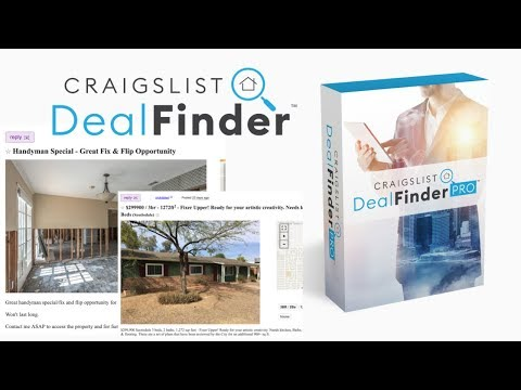 FREE Software Instantly Finds Cheap Houses On Craigslist