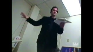Quentin Tarantino reads early draft of