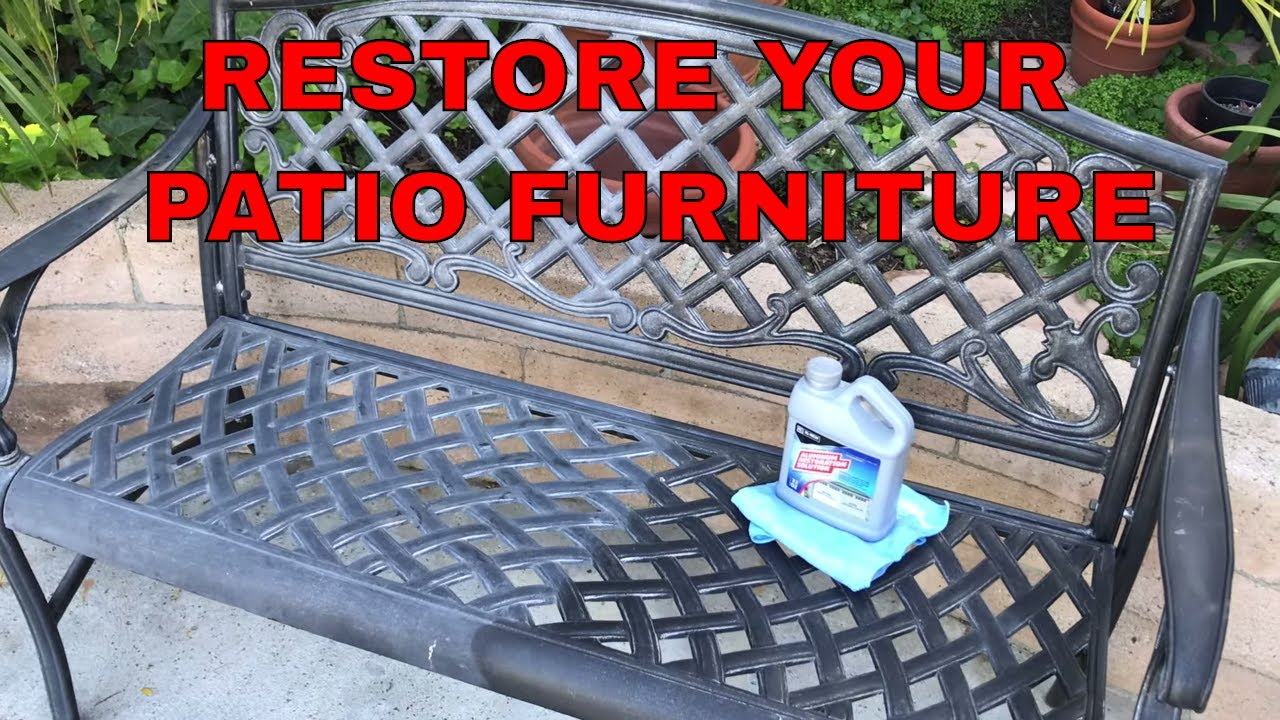restore and protect aluminum yard furniture in minutes protects too