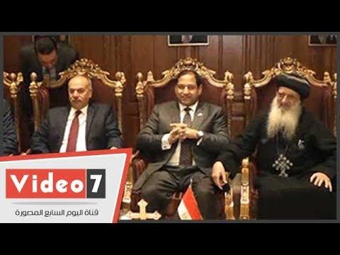 محافظو الإسكندرية والسويس والغربية ومديرو الأمن يقدمون التهنئة للأقباط