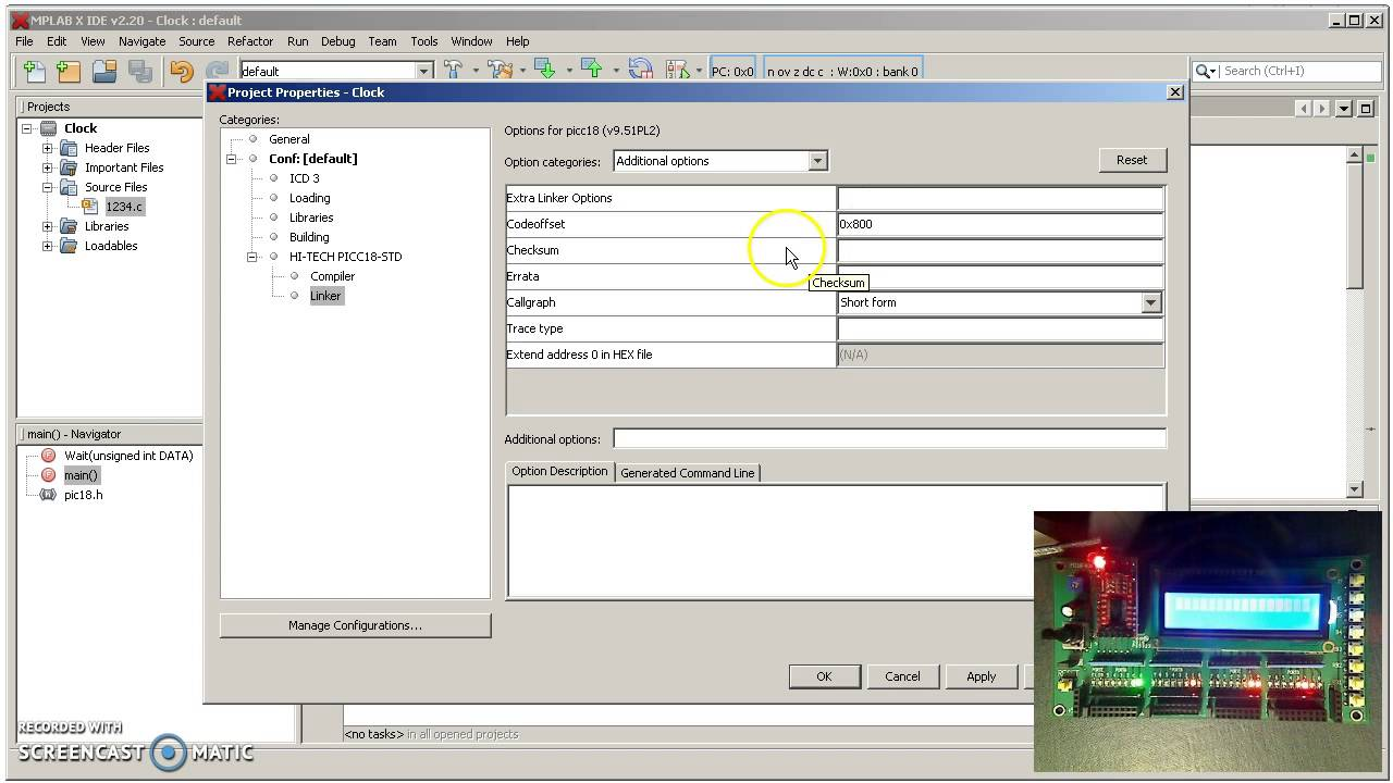 How To Compile And Download C Code Using Mplabx Youtube Microchip Compiler Software