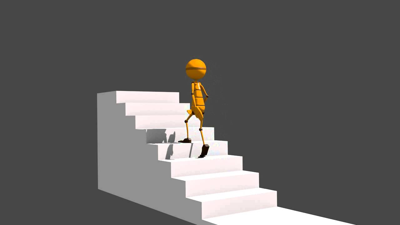 Test animaci n 3d subir escaleras youtube for Escaleras 3d max