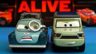 Lights Sounds Miles Axlerod CARS 2 ProfessorZ Diecast Disney Talking toys review by Blucollection