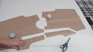 AULA molde blusa cava quadrada  Alana Santos Blogger