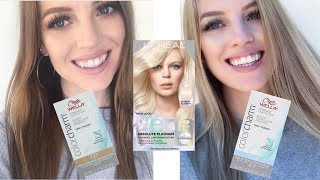 Brunette to Blonde AT HOME With Loreal Platinum Advanced Box Dye | TONING with Wella T14 & Wella T27