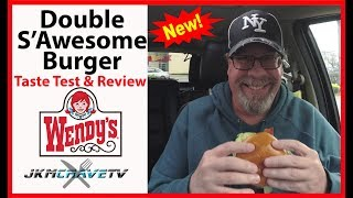 Wendy's | Double S'Awesome Burger | Taste Test and Review | JKMCraveTV