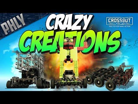Crossout - MEGA SHOPPING CART - ROCKET PENIS & MORE (Crossout Crazy Creations #2)