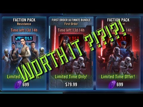 Worth IT:  New Faction Packs  FO bundle star wars galaxy of heroes swgoh