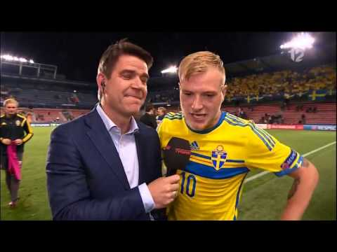 Crazy interview with John Guidetti (with English subtitles) - TV4 Sport