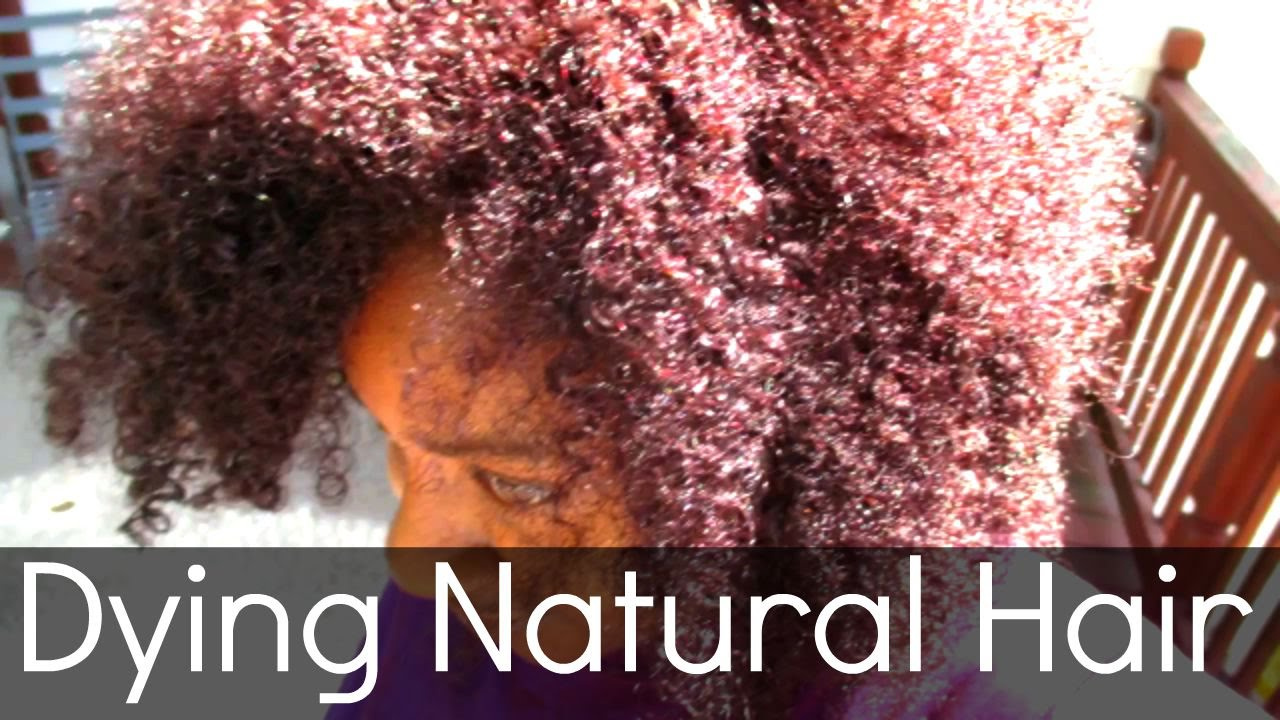 All Natural Hair Dye Purple