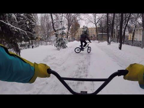 ДРИФТ НА БМХ ЗИМОЙ ТРЮКИ НА BMX BMX VLOG BMX DRIFT