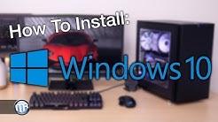 Anleitung / How To: Gaming PC einrichten - Windows 10 & Treiber installieren