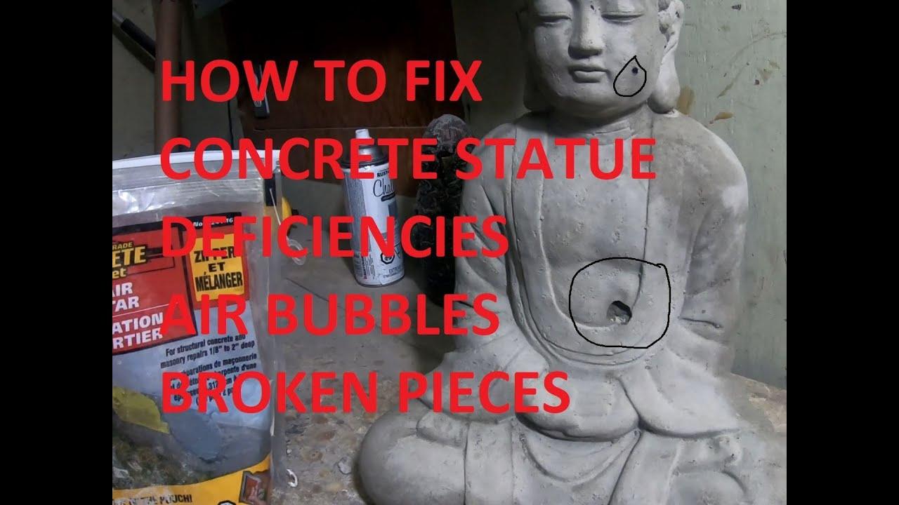 To Fix Concrete Statues Air Bubbles