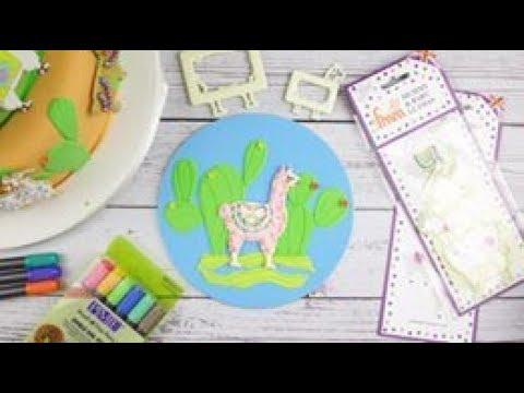 how to make a llama shaped cake