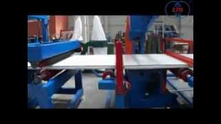 EPS sandwich panel production line the composite band saw cutting process