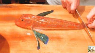 ЯПОНСКАЯ Кухня | Обработка Рыба МОРСКОЙ ПЕТУХ (Красный), Сашими _ Full-HD.mp4