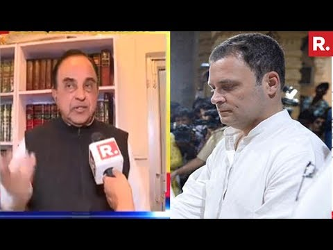 Subramanian Swamy Questions Rahul Gandhi Over Somnath Temple Visit