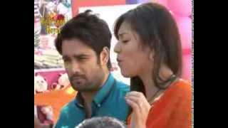 On location of TV Serial 'Madhubala'  RK & Madhu enjoyng in the market