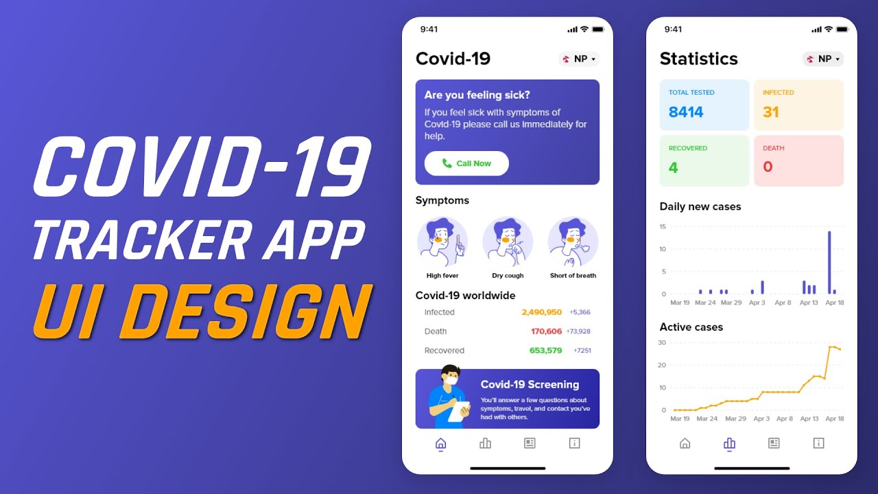 Photo of Covid 19 Tracker app UI Design In Adobe XD [Speed Art]