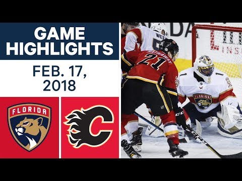 NHL Game Highlights | Panthers vs. Flames – Feb. 17, 2018