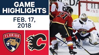 NHL Game Highlights | Panthers vs. Flames - Feb. 17, 2018