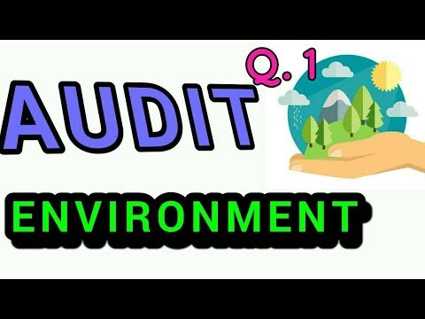 Q.1 Areas to be covered in Environment Audit ?