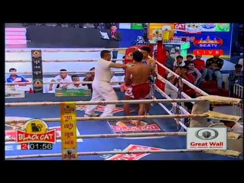 Khmer Thai Boxing 2015   Chhean Hong Vs Anuk Vath   SEATV Boxing 05 July 2015