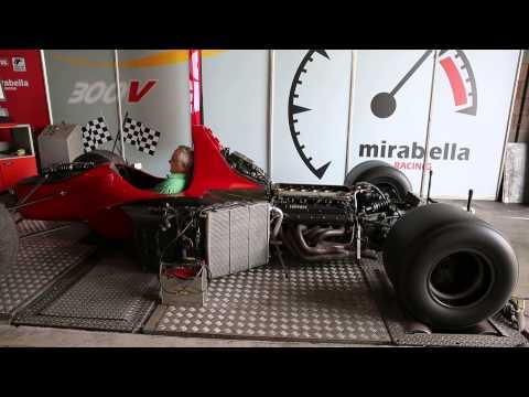 F1 Dallara motore Ferrari 1992 verifiche banco prova