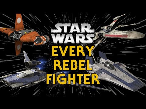 Every Rebel, New Republic, and Resistance Starfighter