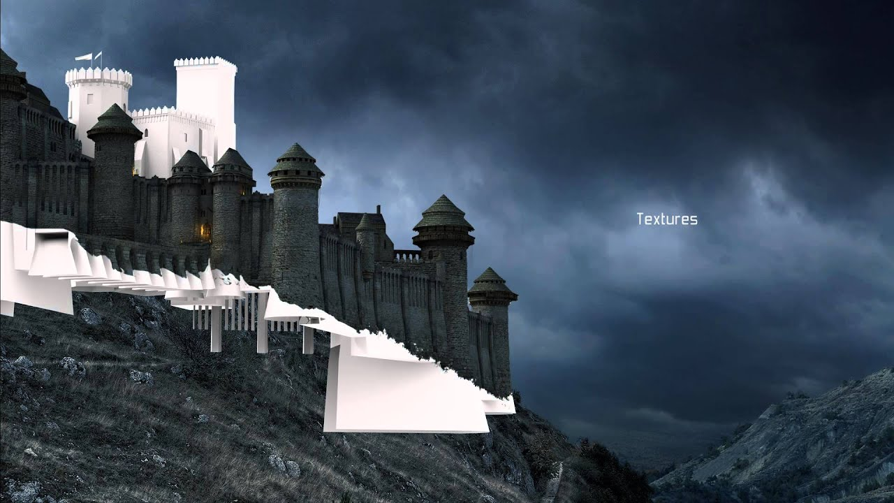 Castle storm matte painting youtube for Matte painting