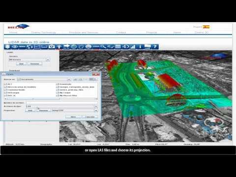 LiDAR data online inside Dielmo 3D Viewer. Part 1_Airborne LiDAR