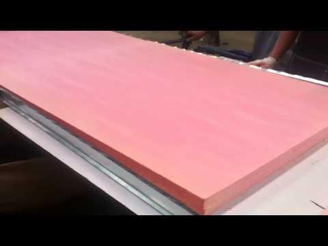 production process of sandwich panels