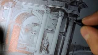 Смотреть видео Drawing рисунок Треумфальная арка Москва онлайн