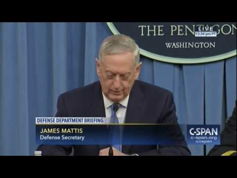 Mattis Says 'No Doubt' Syria Was Behind Chemical Weapons Attack