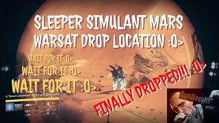 Destiny Mars Warsat drop location for Sleeper Simulant