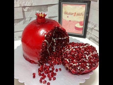 Nar Şeklinde Pasta-Pomegranate Cake