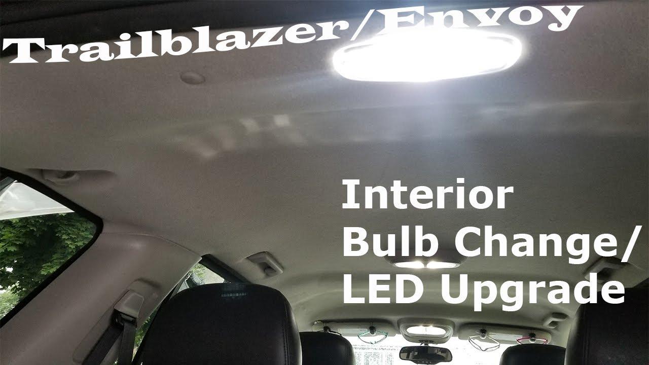 hight resolution of trailblazer envoy other models interior light change led upgrade