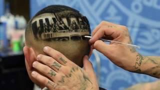 """Супер парикмахер Rob Ferrel (Причёска""""тайная вечеря"""")"""