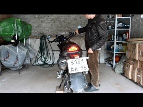 Ставлю стробы в стоп-сигналы на китайский мотоцикл ABM RX200!