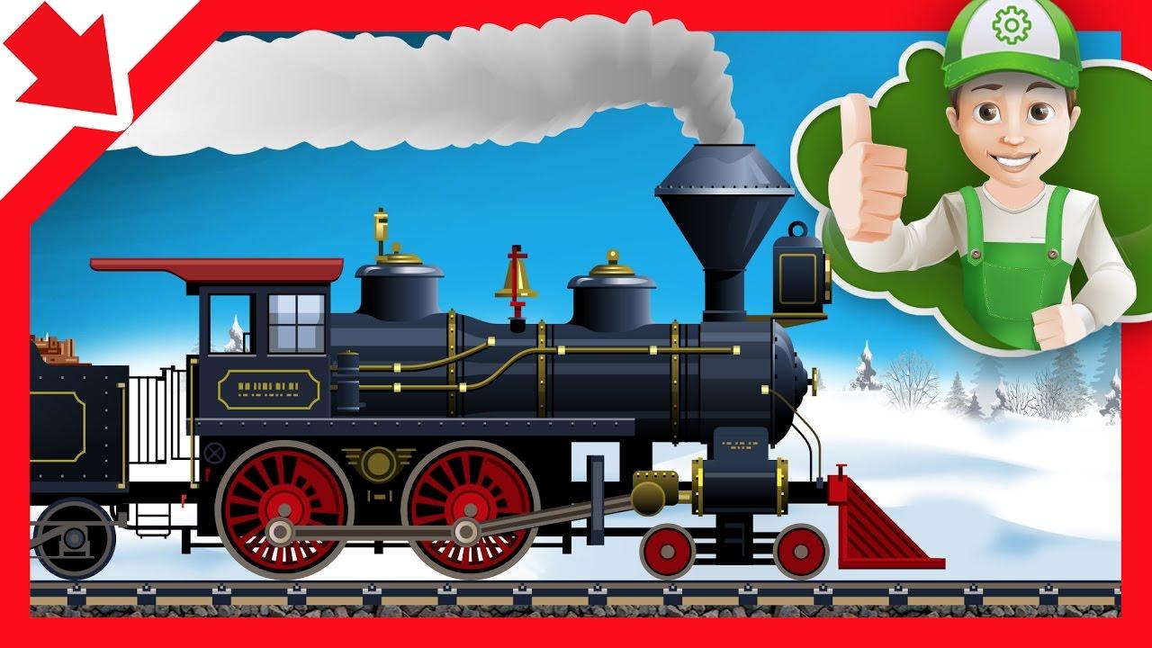 Treno cartoni animati. treno bambini. cartoni animati per bambini di