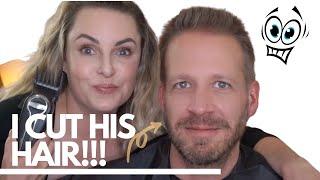 I CUT MY HUSBAND'S HAIR!! || Beginners Guide