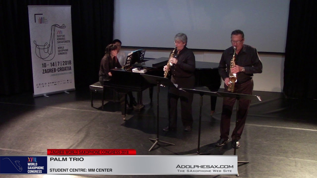 Merry Music by Philip Parker    Palm Trio   XVIII World Sax Congress 2018 #adolphesax