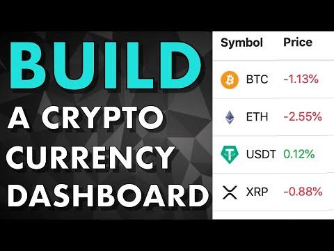 Full tutorial - Build a Crypto Currency Dashboard (Coinmarketcap clone)